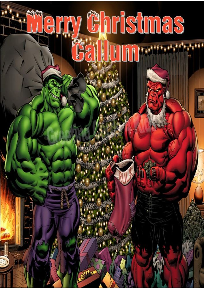 Avengers Assemble Wallpaper Hd Personalised Incredible Hulk Christmas Card